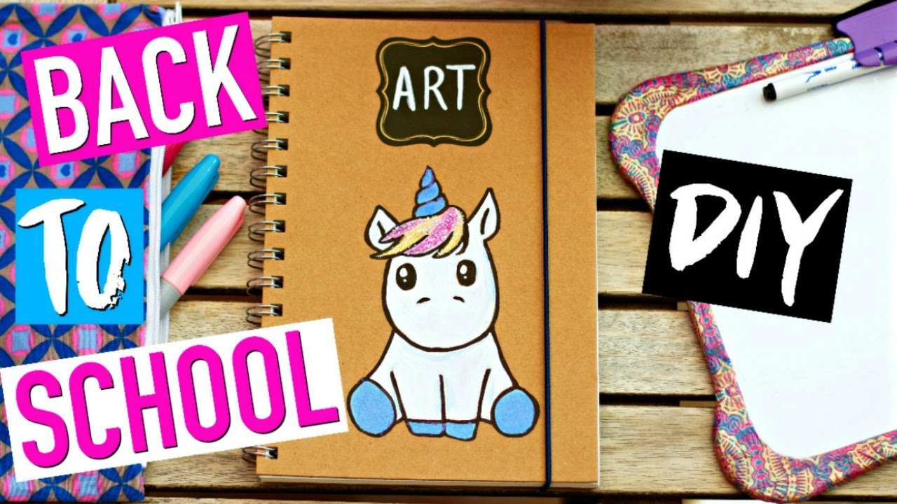Diy Licorne Back To School Facile Fournitures Scolaires Kawaii