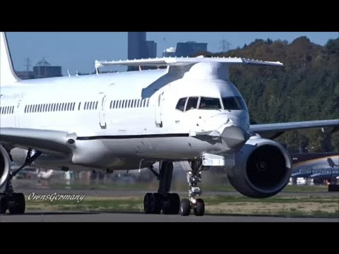 """The 1st Boeing 757 """"Catfish"""" A One of A Kind Very Unique Aircraft Arrival"""