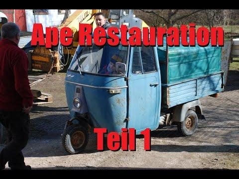 Piaggio Ape 400 Restauration Teil 1 - Die Apeschrauber