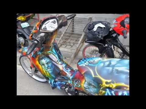 Honda wave 125 airbrush avatar design youtube