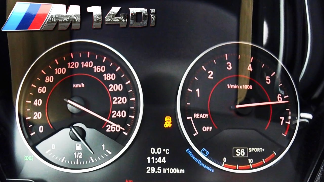 Bmw M140i Acceleration Top Speed 0 260 Km H By Autotopnl Youtube