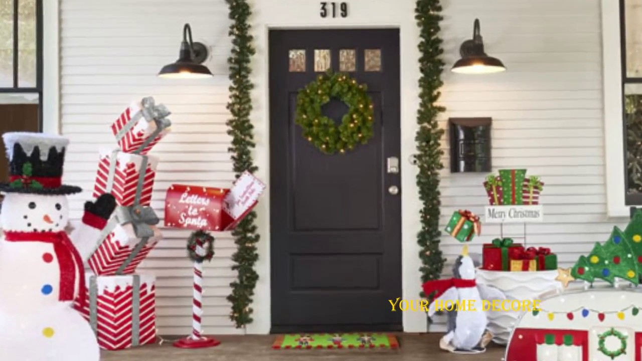 170 Christmas Decoration Ideas For Front Porch Christmas Door Decorations Ideas
