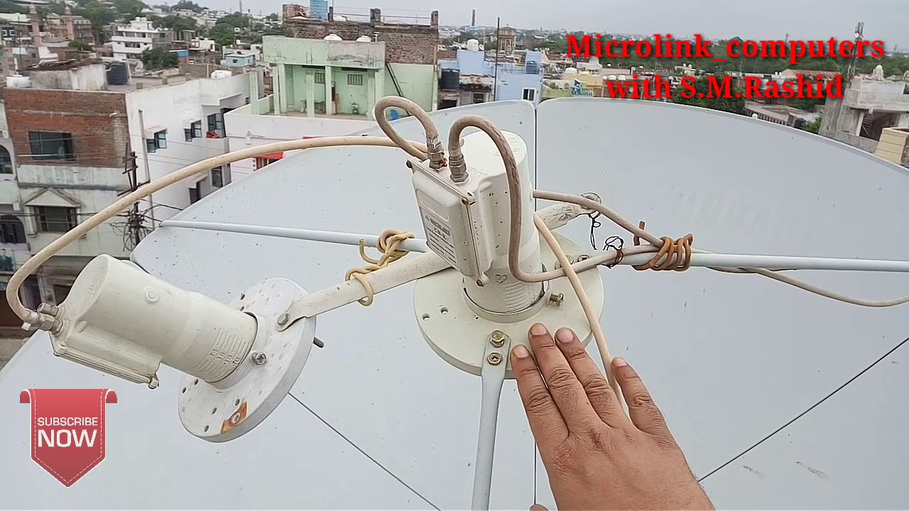 Insat4a 83 with 5 lnb Setting on 4 fit C band dish by DISH