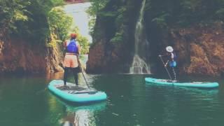 R−LABO SUP ツアー、赤谷湖! 新緑の湖を、のんびりSUPツーリング! SUP...