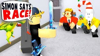 YOUTUBER RACE IN SIMON SAYS!! (Roblox)