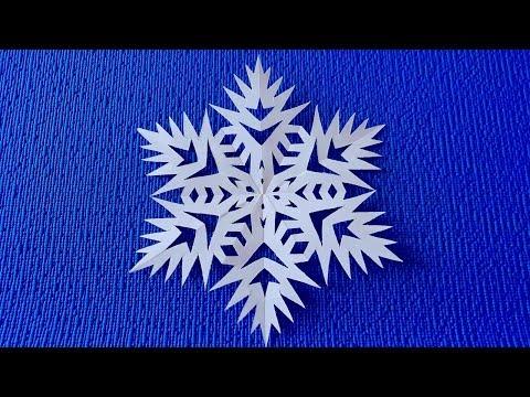 Видеоурок снежинка