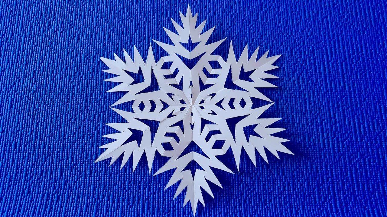 Как красиво вырезать снежинку из бумаги.Снежинка из бумаги ...