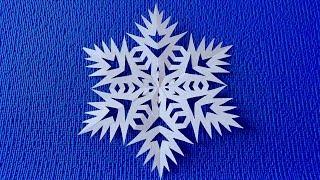 очень Красивая Снежинка Своими Руками. Как Сделать Вырезать Снежинку на Новый год декор идеи DIY