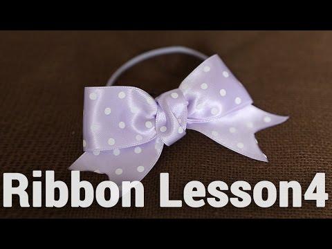 DIYヘアゴムの作り方♡シングルリボンRibbon Lesson4|How to make cute Hair RibbonKumamiki