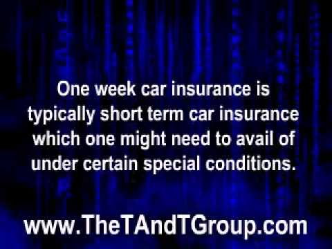 1 Week Car Insurance- Insure Your Vehicle for Short-term