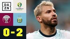 Sergio Agüero schießt Albiceleste ins Viertelfinale: Katar - Argentinien 0:2 | Copa America | DAZN