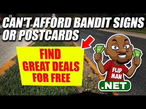 Can't Afford Bandit Signs or Postcards | Wholesale Houses Using Free Methods to Find Deals #flipman