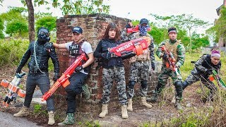 LTT Game Nerf War : League Winter Warriors SEAL X Nerf Guns Fight Criminal Group Rocket Man