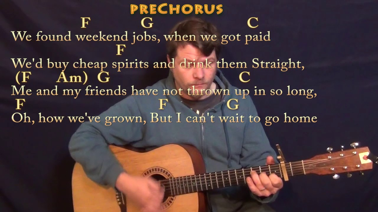 Castle On The Hill Ed Sheeran Guitar Lesson Chord Chart With