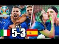 ITALIA vs SPAGNA 5-3 - EURO 2020 REAZIONE ai RIGORI e ai MEME del WEB (GODO)