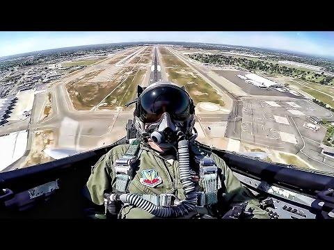 F-15 Eagle Takeoff & Maneuvers • Cockpit View