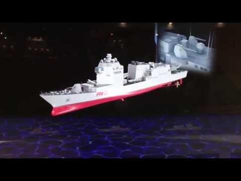 Fincantieri PPA patrol ship at EURONAVAL 2014
