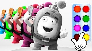 Learn Colors with Oddbods Newt - Learning Color Compilation for Baby Toddlers, Kids and Children