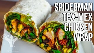 Spiderman Tex Mex Chicken Wrap for Healthy Lunch / Envoltura de Tex Mex (Pollo)