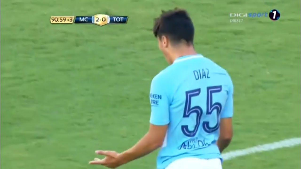 Man City's youngster Brahim Diaz scores vs Tottenham - YouTube