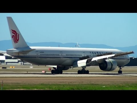 Air China 777-300ER [B-2031] Landing Vancouver Airport (YVR)