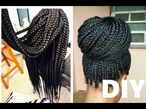 How to Box Braids CROCHET METHOD - YouTube
