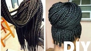 how to box braids   crochet method