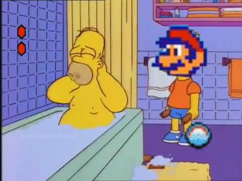 Bart hits Homer with a Chair but itu0027s Super Mario Bros. 2 & Bart hits Homer with a Chair but itu0027s Super Mario Bros. 2 - YouTube