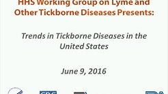 2016 HHS joint webinar: Trends in Tickborne Diseases