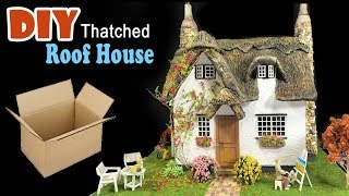 How to make a Beautiful thatched roof dreamy home with flower garden