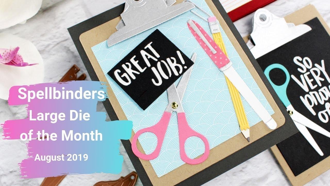 Spellbinders Large Die of the Month | August 2019