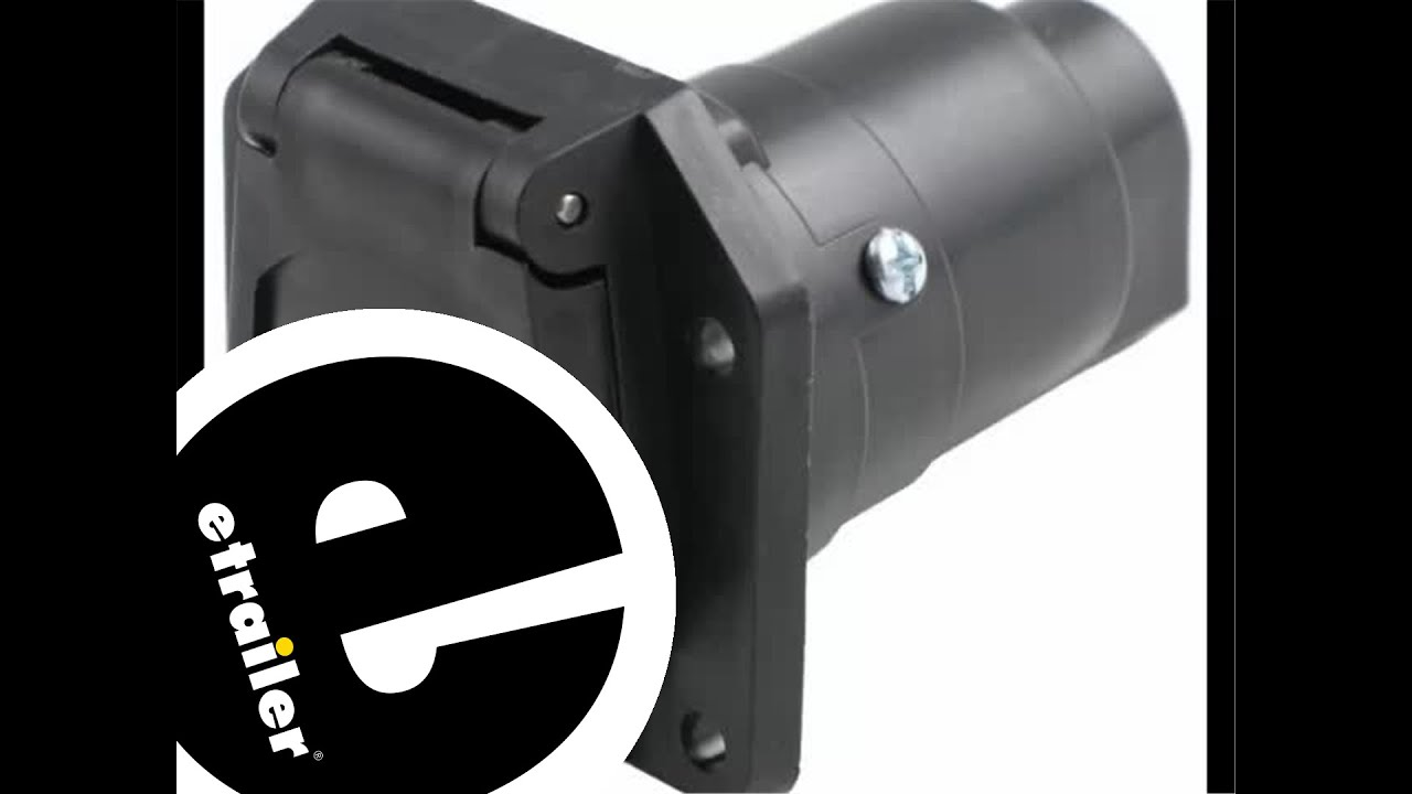 hight resolution of pollak black plastic rv 7 pole trailer socket review etrailer com