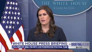 White house press briefing on bipartisan health care deal, Pres. Trump's comments on fallen soldiers