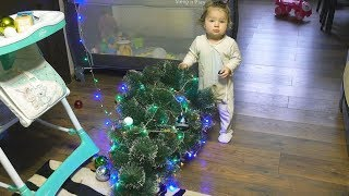 Cute Baby's First Christmas Tree Funny Fail!