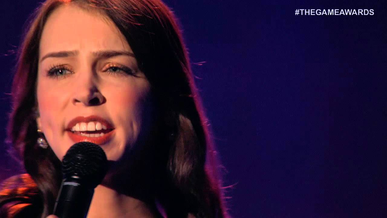 "STEFANie justen The Game Awards 2015 - Stefanie Joosten w/Choir performs ""Quiet's Theme"""