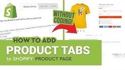 How to add custom product tabs to Shopify product page WITHOUT CODING