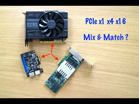 Will PCIe x1 x4 cards work in x16 slot?