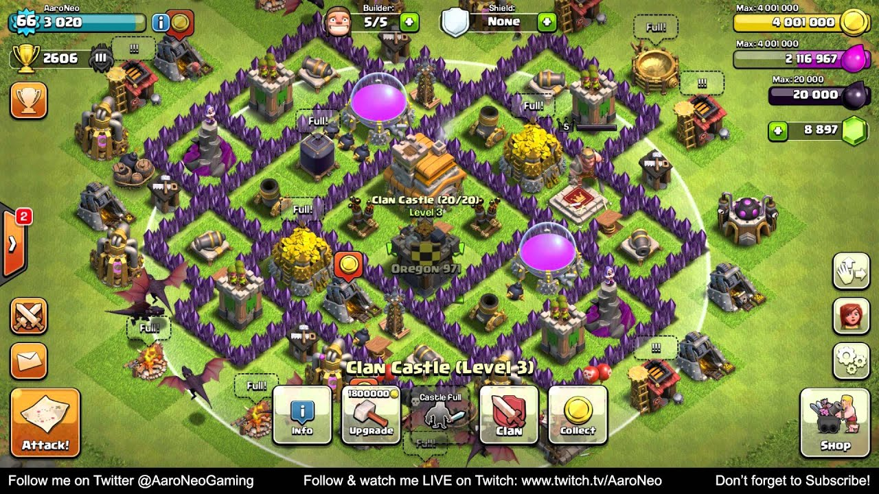Town Hall Level 7 TH7 Base MAXED OUT pletely Upgrade