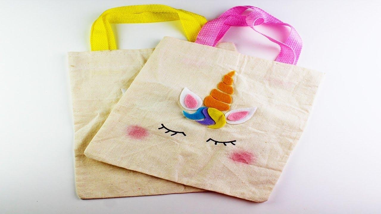 como hacer bolsas de unicornio para dulces/dulceros de tela - YouTube
