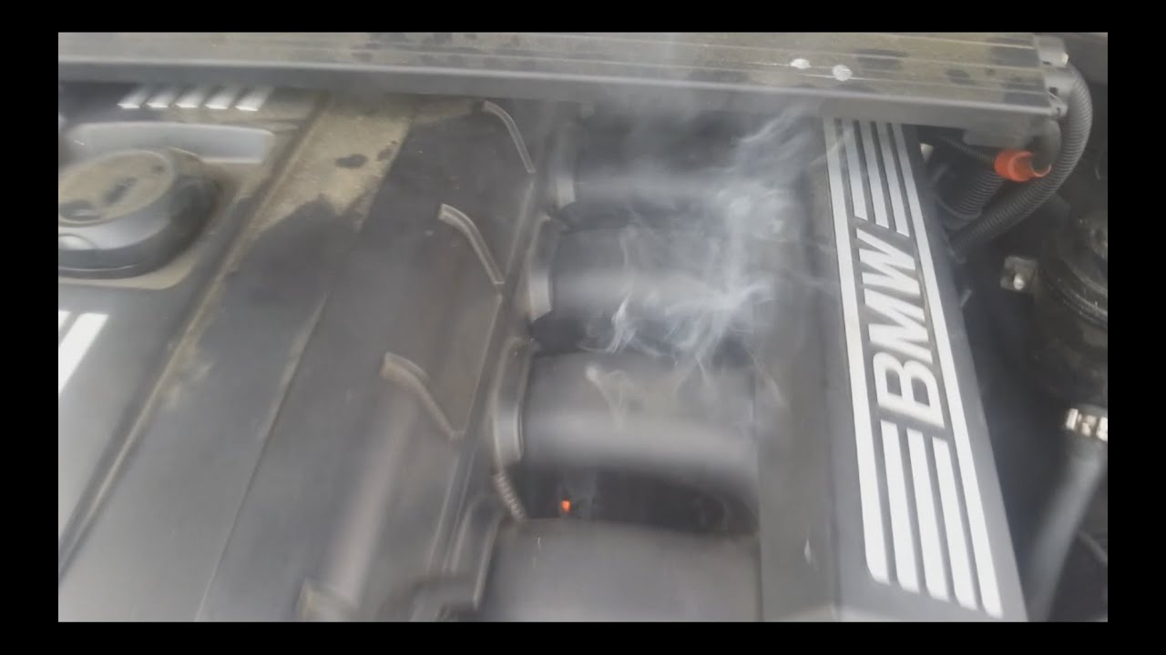 Smoke And Fire Under Hood From Intake Manifold   BMW 3 Series
