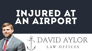 Injured at an Airport | Charleston Personal Injury Attorney