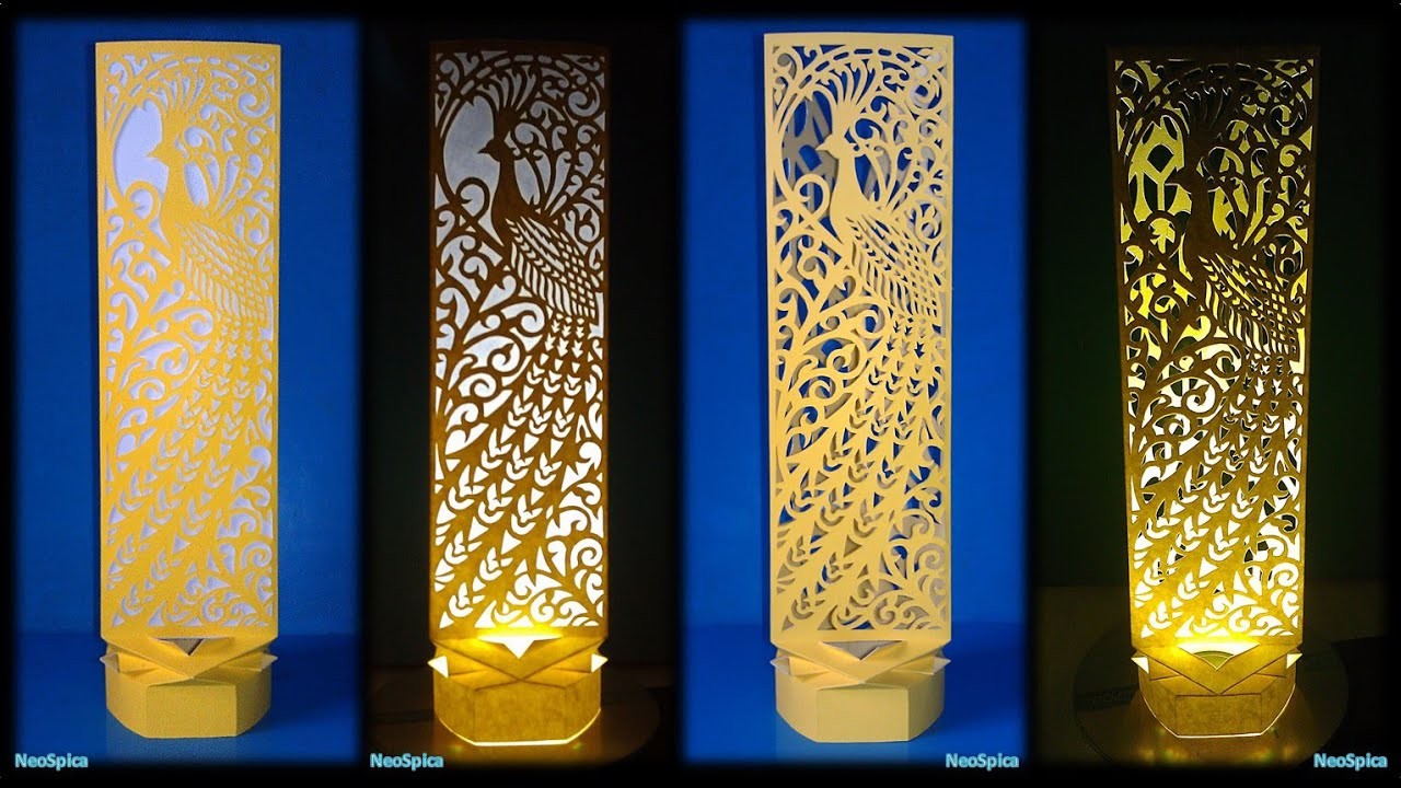 Paper cut lamp fancy bird youtube paper cut lamp fancy bird aloadofball Image collections