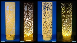 Paper Cut Lamp Fancy Bird
