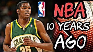 What the NBA Looked Like 10 Years Ago