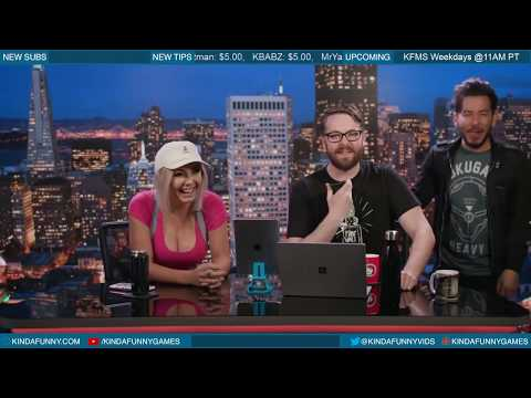 Jessica Nigri Bongos Kevin - The Kinda Funny Morning Show 03.06.18