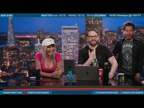 Jessica Nigri Bongos Kevin - The Kinda Funny Morning Show 03.06.18