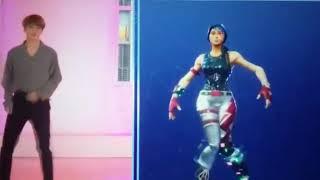 BTS ON JIMMY FALLON SHOW (FORTNITE DANCE) ON CRACK