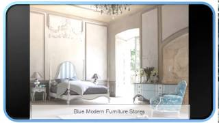 Blue Modern Furniture Stores