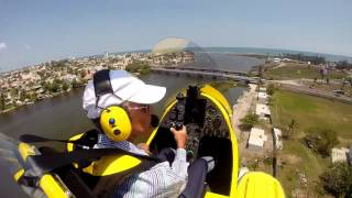 Flying my MTO SPORT Autogyro on floats to the Jamapa River in Veracruz, México.