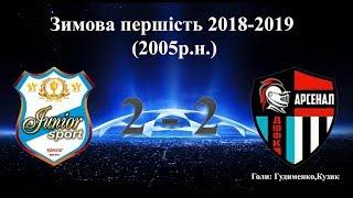 """КДЮСШ """"Юниор-Спорт"""" 2 - 2 ДЮФК """"Арсенал"""" 1 тайм (2005р.н.)"""